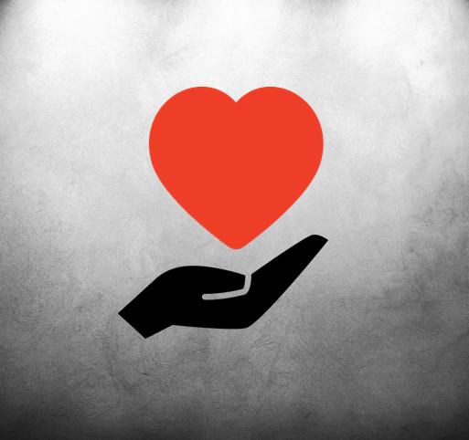 Wand mit Herz