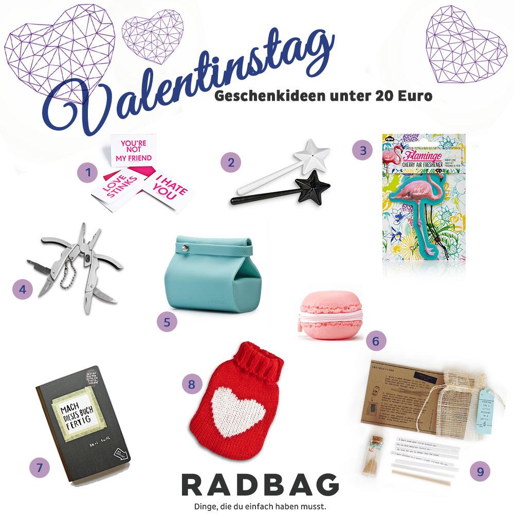 Valentinstag-Geschenke für Männer und Frauen unter 20 Euro