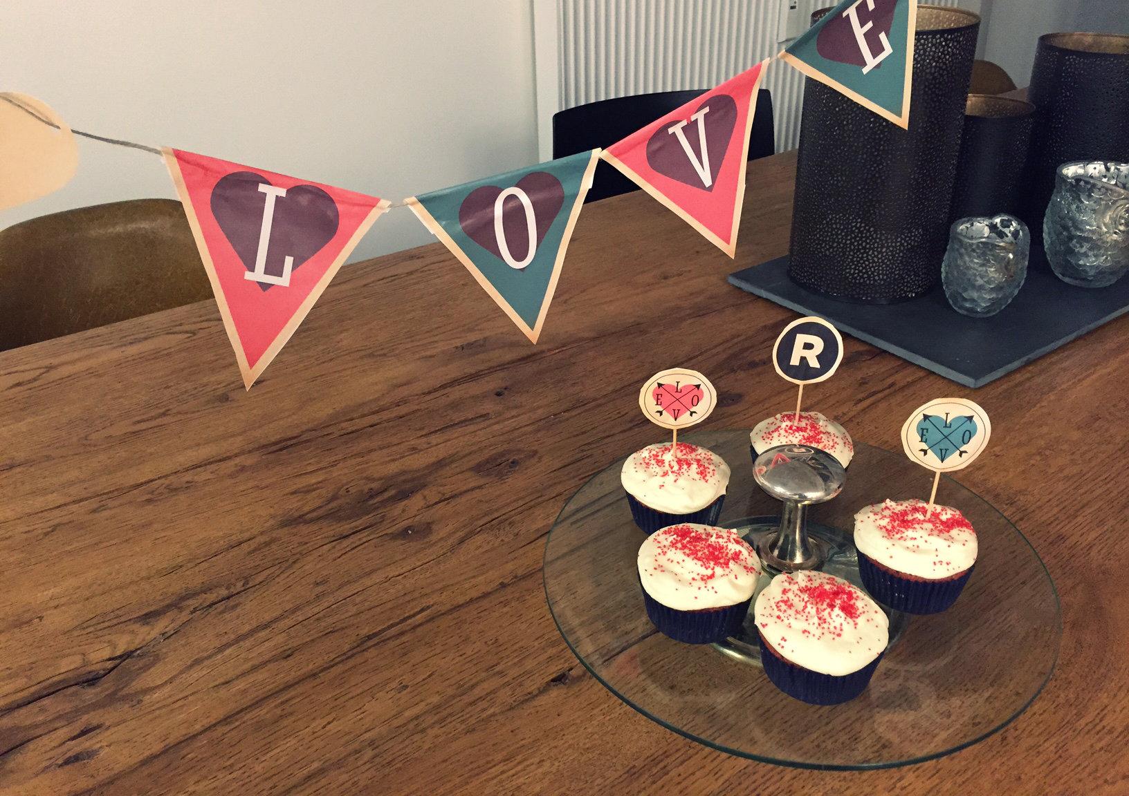 DIY-Valentinstag-Überraschung Cupcakes
