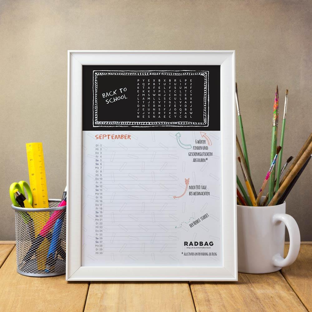 September Kalender zum runterladen