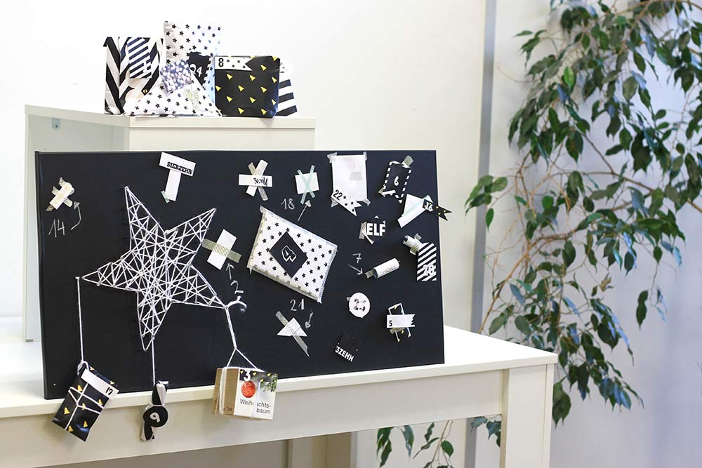 diy adventskalender zum selbermachen geschenke inkl. Black Bedroom Furniture Sets. Home Design Ideas