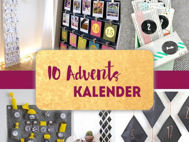 10 Adventskalender zum selbst basteln