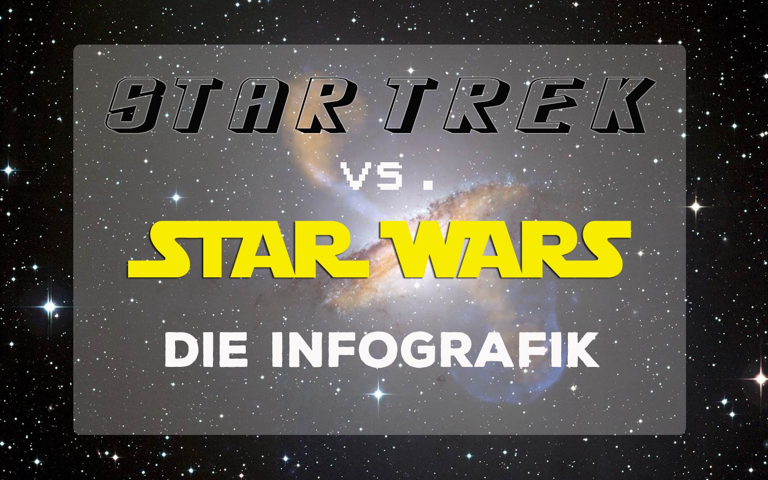 infografik star wars star trek