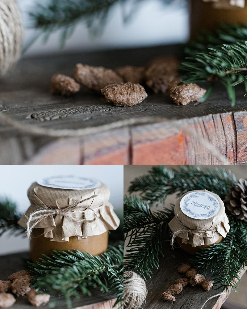 weihnachtsgeschenk aus der k che gebranntes mandelmus. Black Bedroom Furniture Sets. Home Design Ideas