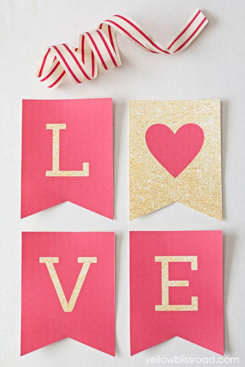 Last Minute Valentinstag Free Printable
