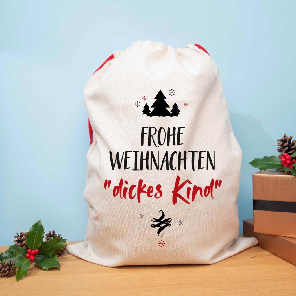 Weihnachtsgeschenke personalisierbarer Weihnachtssack