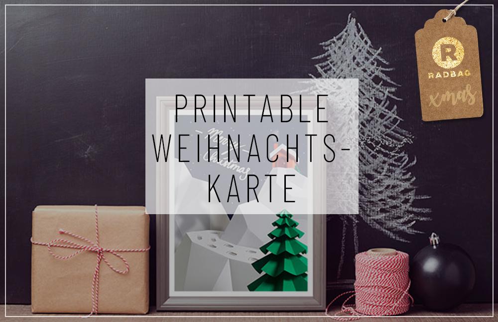 free printable weihnachtskarte radbag. Black Bedroom Furniture Sets. Home Design Ideas
