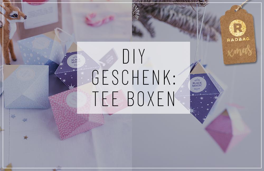 Tee Box DIY und Printable als Weihnachtsgeschenk