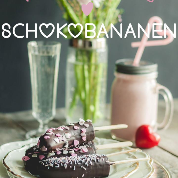 Valentinstag Schokobananen
