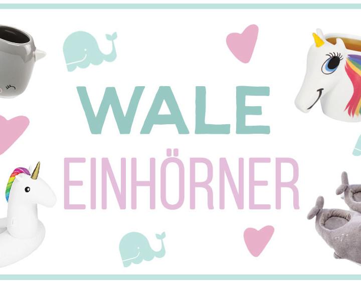Einhörner und Wale