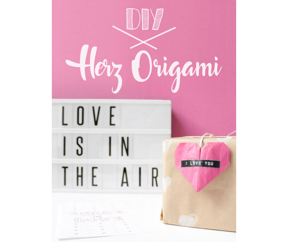 diy herz origami f r dein valentinstag geschenk. Black Bedroom Furniture Sets. Home Design Ideas