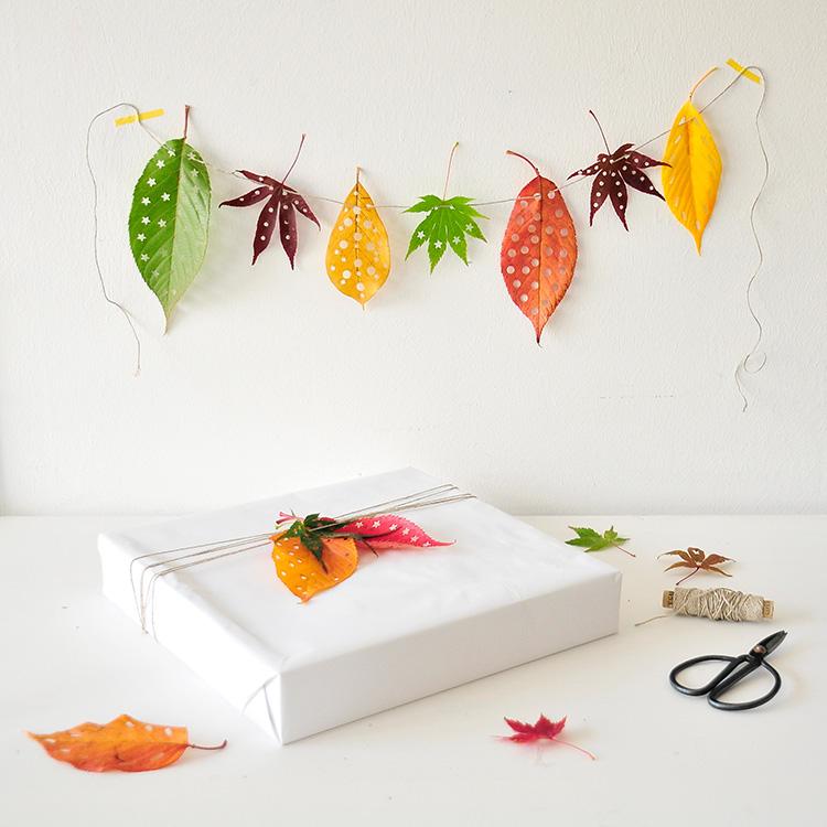 Herbstdeko herbstbasteln bastlen geschenke verpacken miss red fox