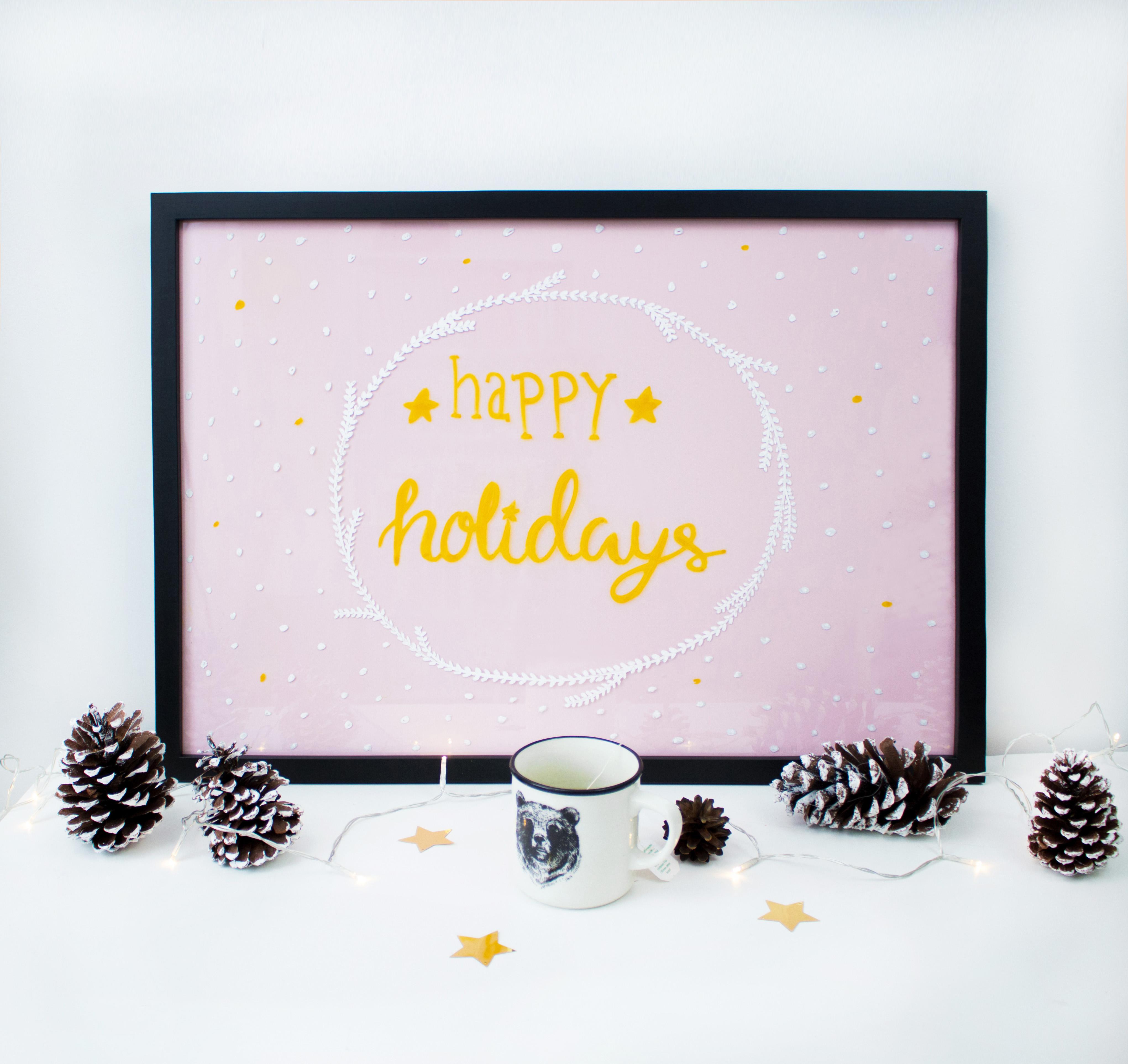 diy weihnachtsbilder mit lettering f r dein zuhause. Black Bedroom Furniture Sets. Home Design Ideas