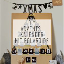 adventskalender mit polaroids