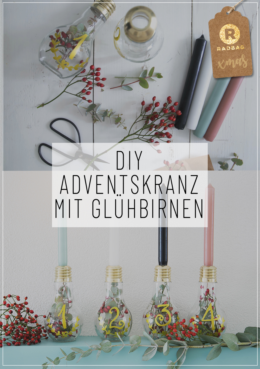 dein diy adventskranz selber machen mit gl hbirnen. Black Bedroom Furniture Sets. Home Design Ideas