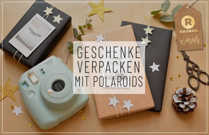 geschenke verpacken mit polaroids