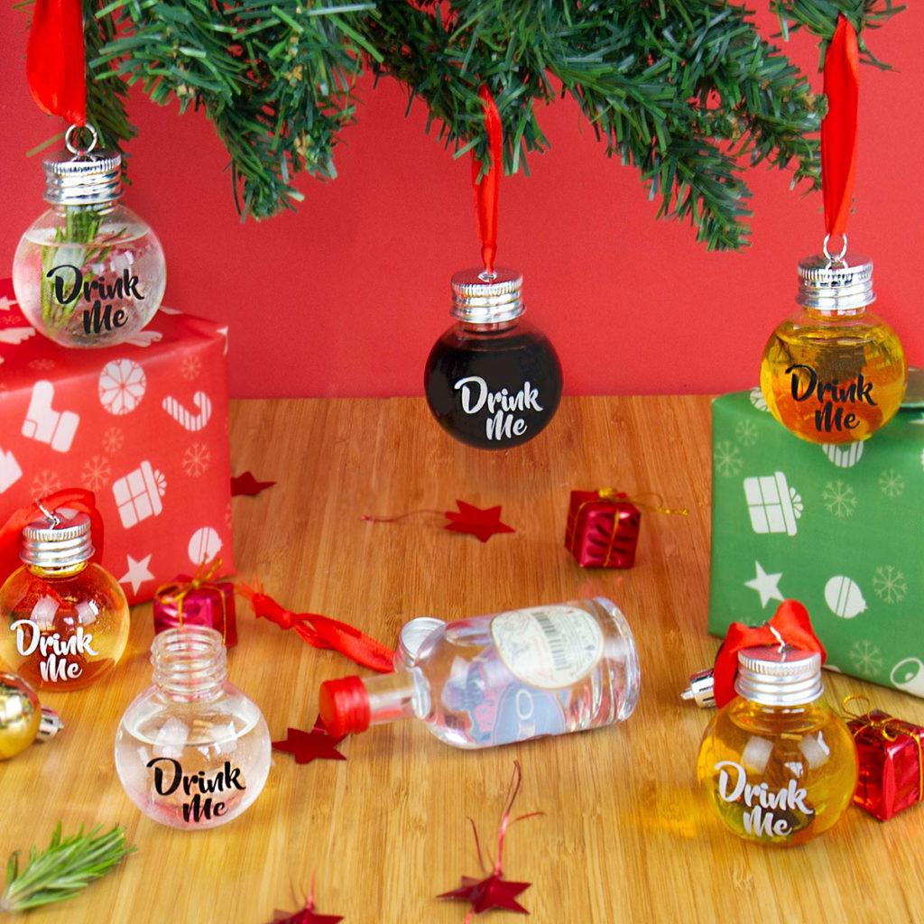Weihnachtsgeschenke Likör Weihnachtskugeln