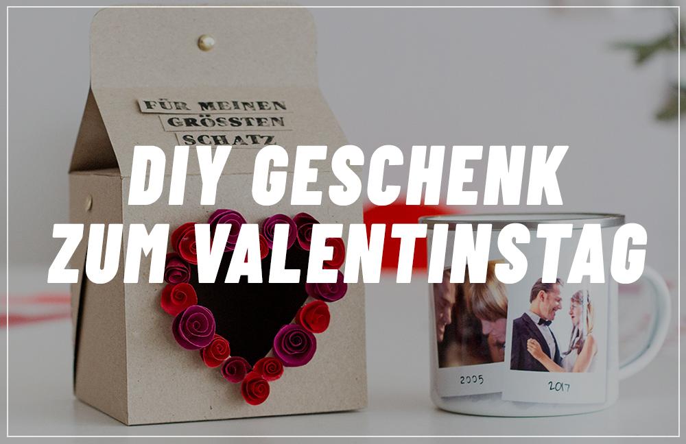 Valentinstag Geschenk Selbermachen Herziges Fotogeschenk Mit Tasse