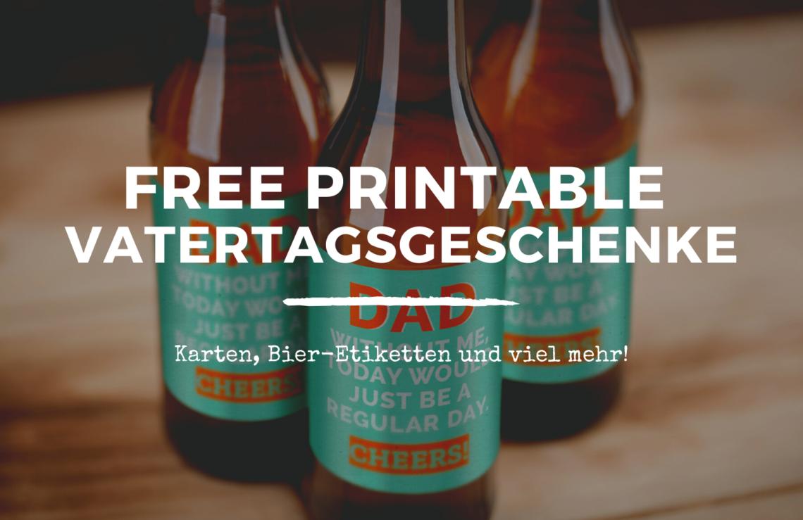 Vatertagsgeschenke selbermachen DIY free printable vatertag geschenke für papa