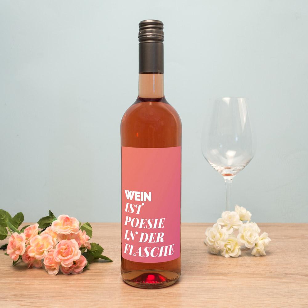 Geburtstagsgeschenke personalisierter rose wein
