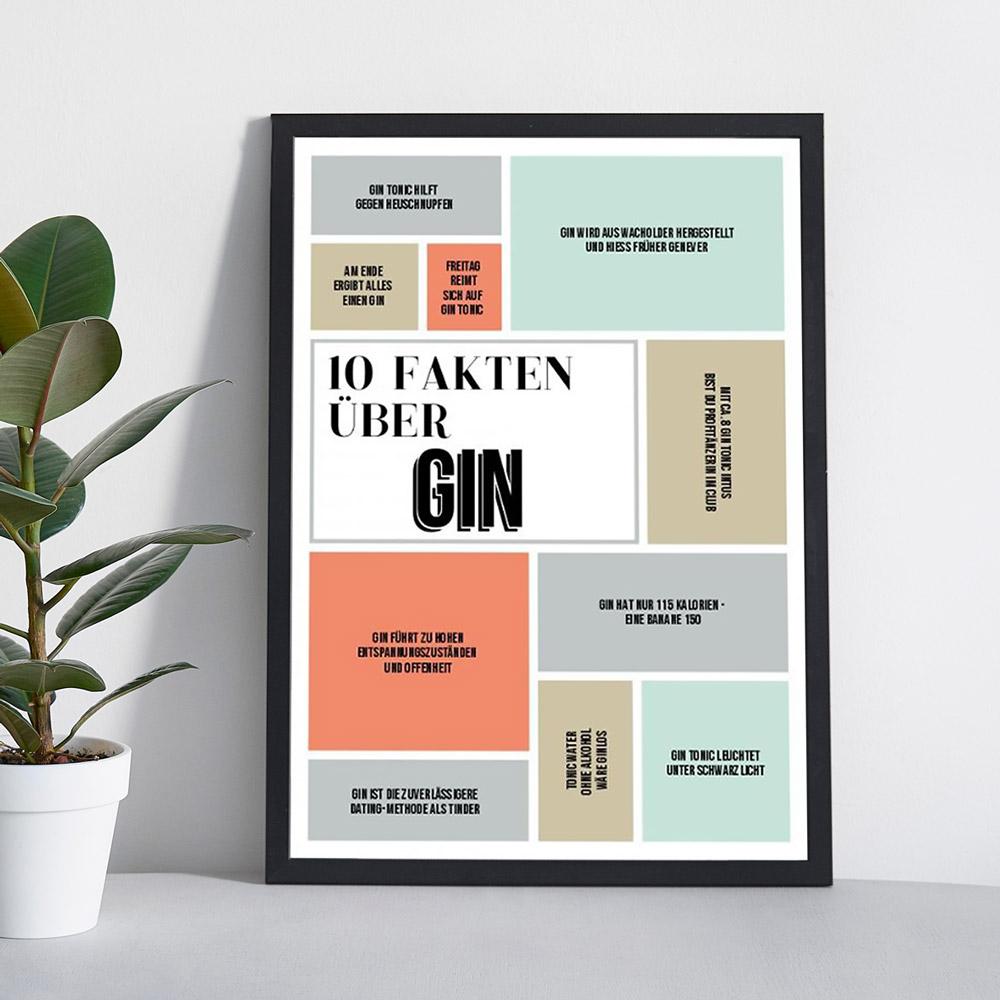 Geburtstagsgeschenke 10 fakten personalisierbares poster