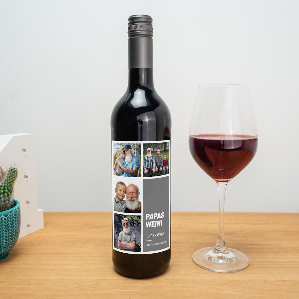 Geburtstagsgeschenke Rotwein mit personalisierbarem Etikett