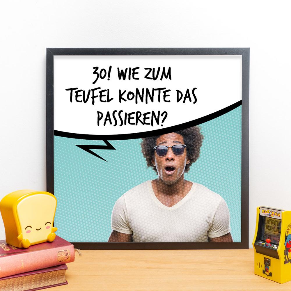Geburtstagsgeschenke personalisierbares poster mit foto comic style