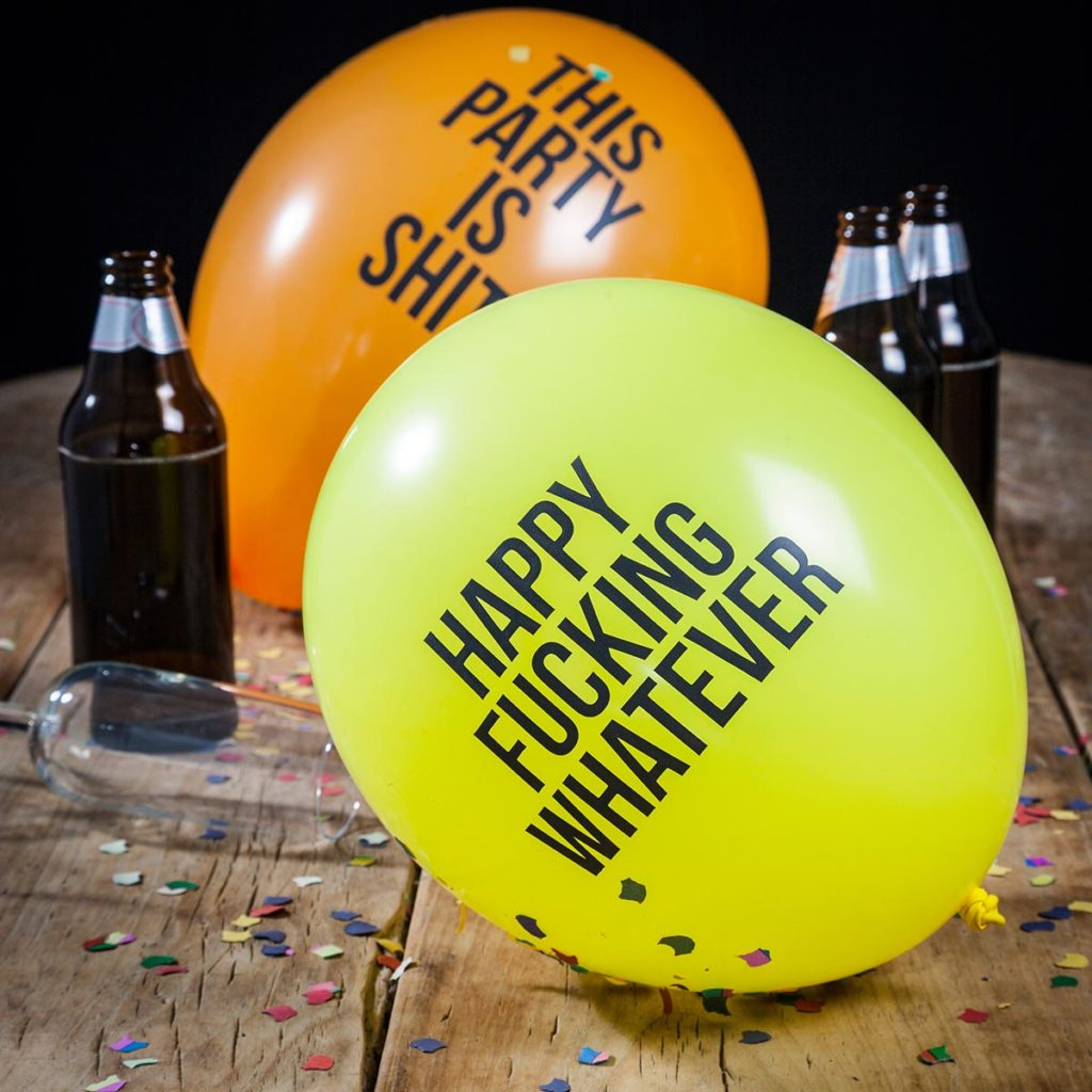 Geburtstagsgeschenke fiese Luftballons
