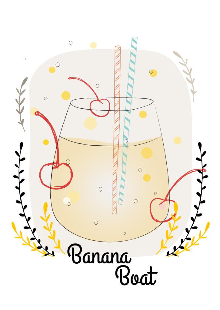 Einfache Cocktailrezepte für den Sommer  Banana Boat