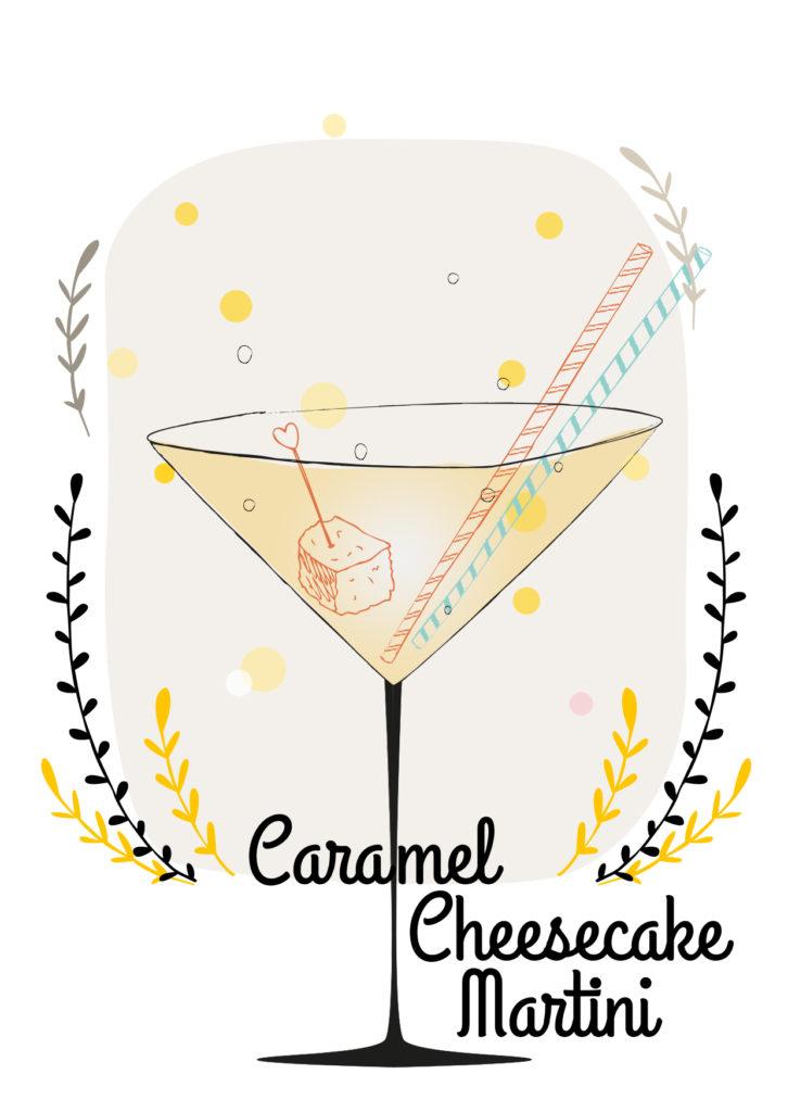 Einfache Cocktails für den Sommer Caramel cheescake martini