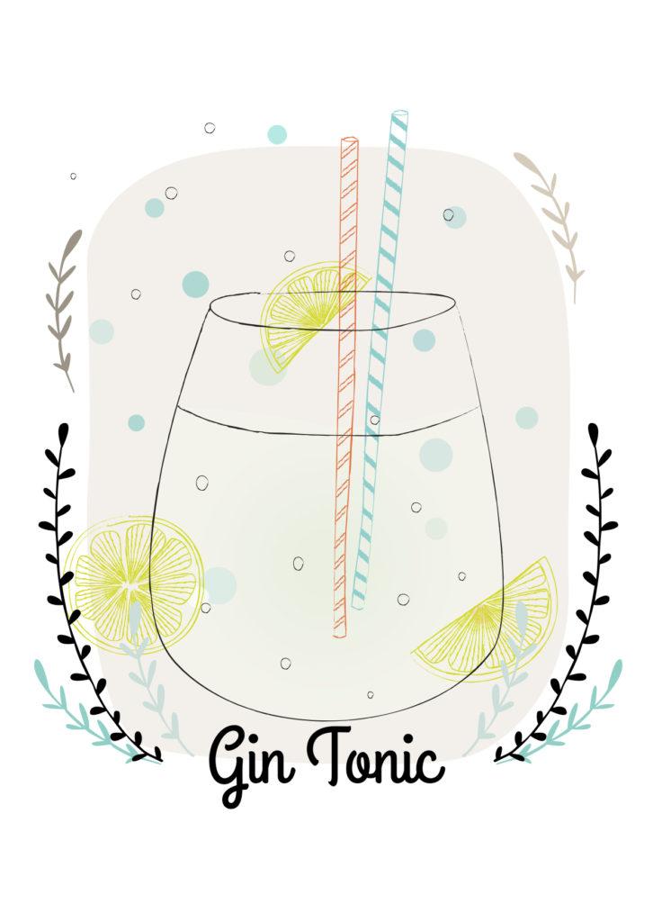 Einfache Cocktails für den Sommer  Gin tonic