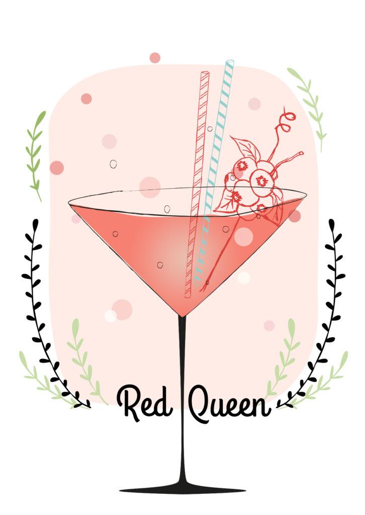 Einfache Cocktails für den Sommer  Red queen