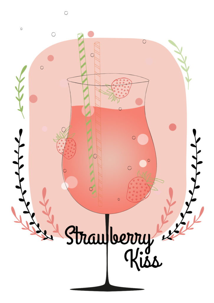 Einfache Cocktails für den Sommer Strawberry Kiss