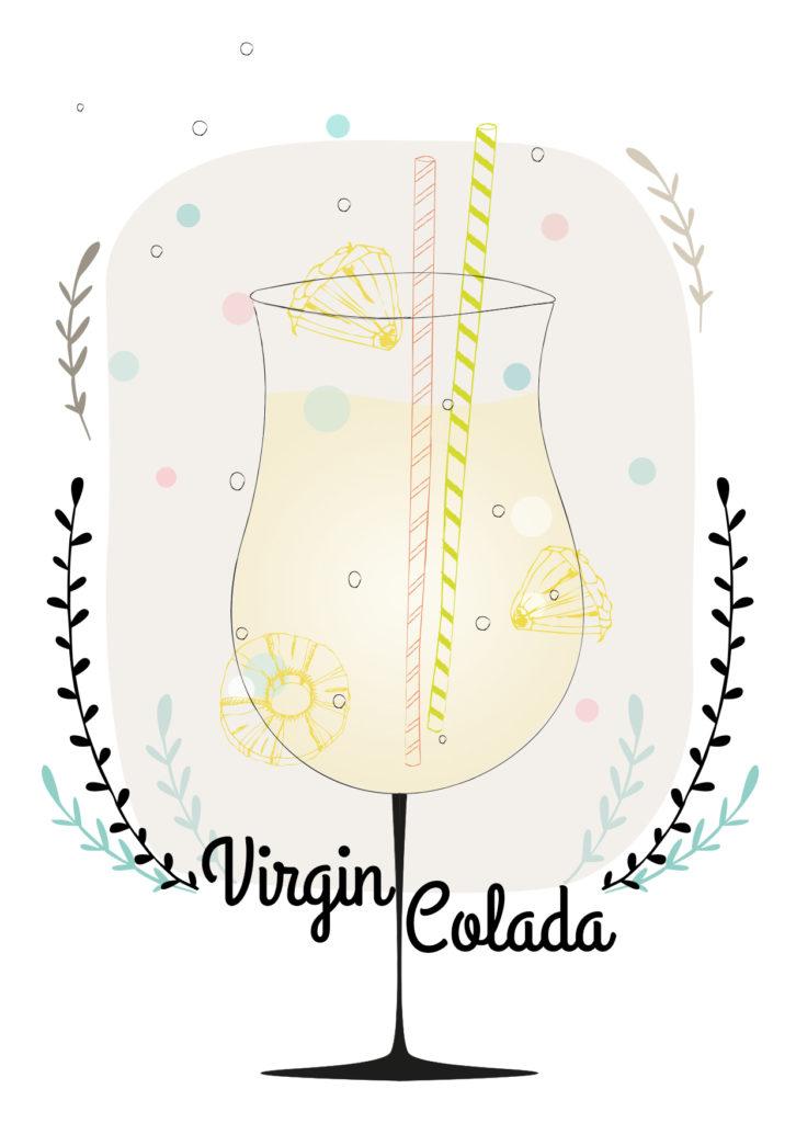 Einfache Cocktails für den Sommer Virgin Colada