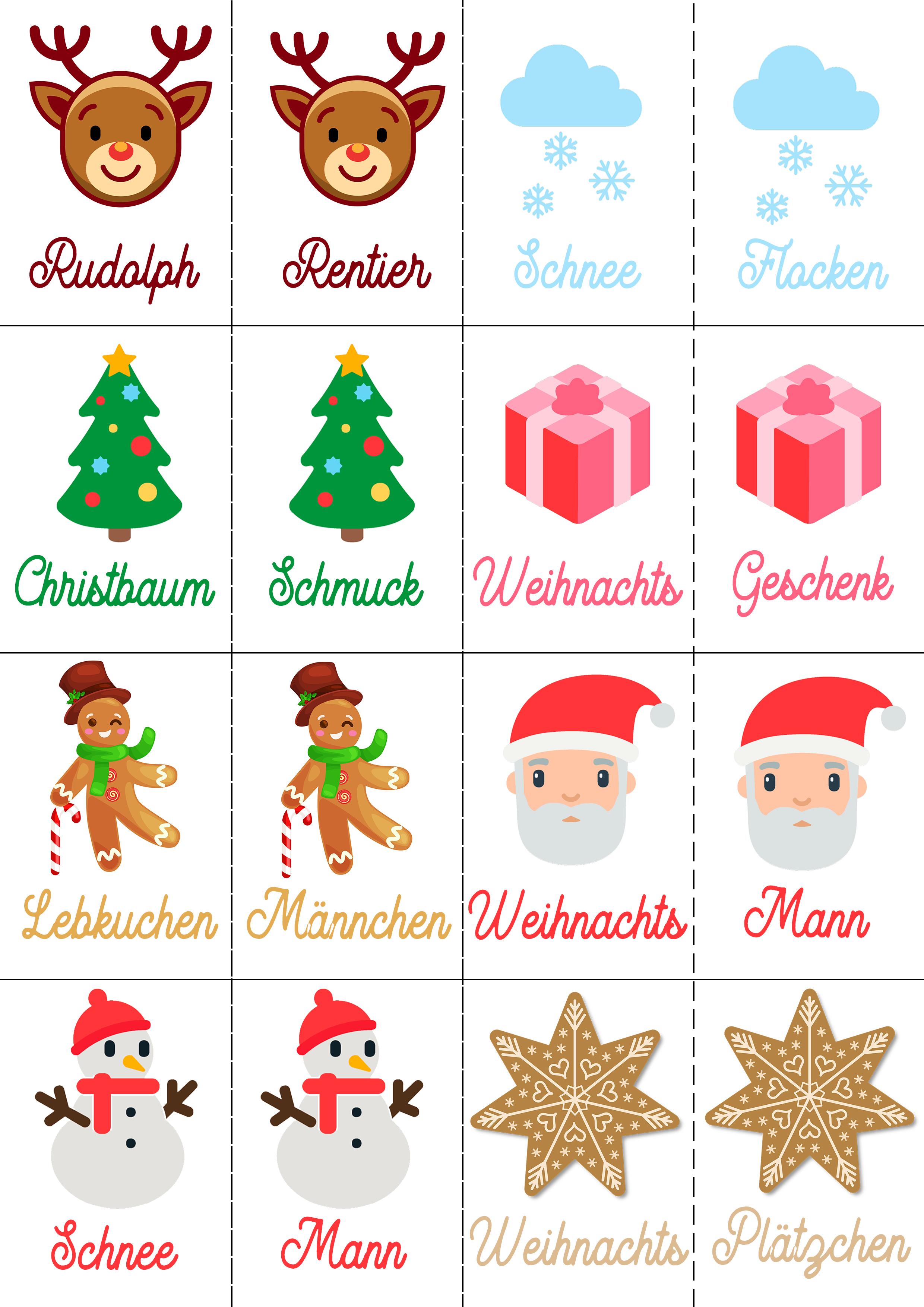 Weihnachtsmemory