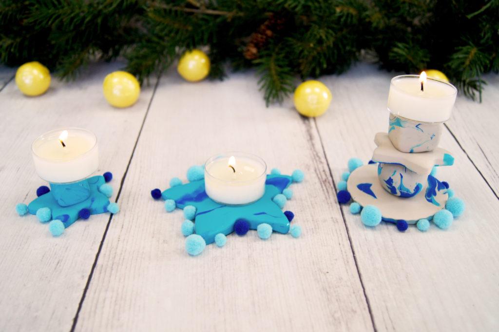 Basteln Für Weihnachten Mit Kinder Diy Fimo Kerzenständer