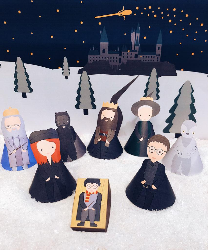 Harry Potter Krippe zum Ausdrucken Free printable weihnachtskrippe