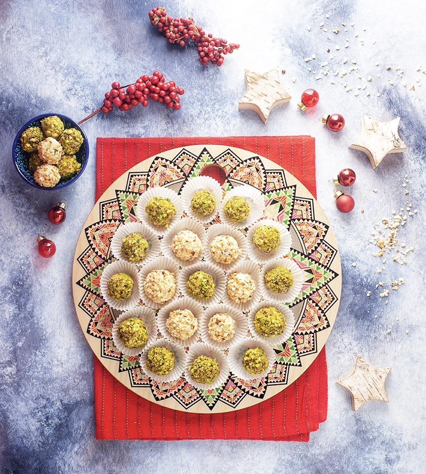 Vorspeise für Weihnachten: die Traubenbällchen