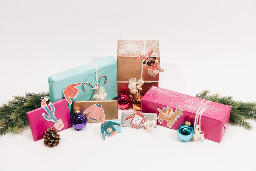 Geschenkanhänger zum Ausdrucken für Weihnachten