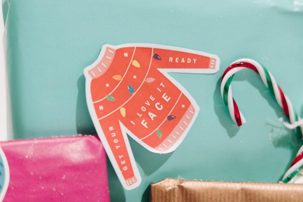 Weihnachtsgeschenkanhänger zum Ausdrucken
