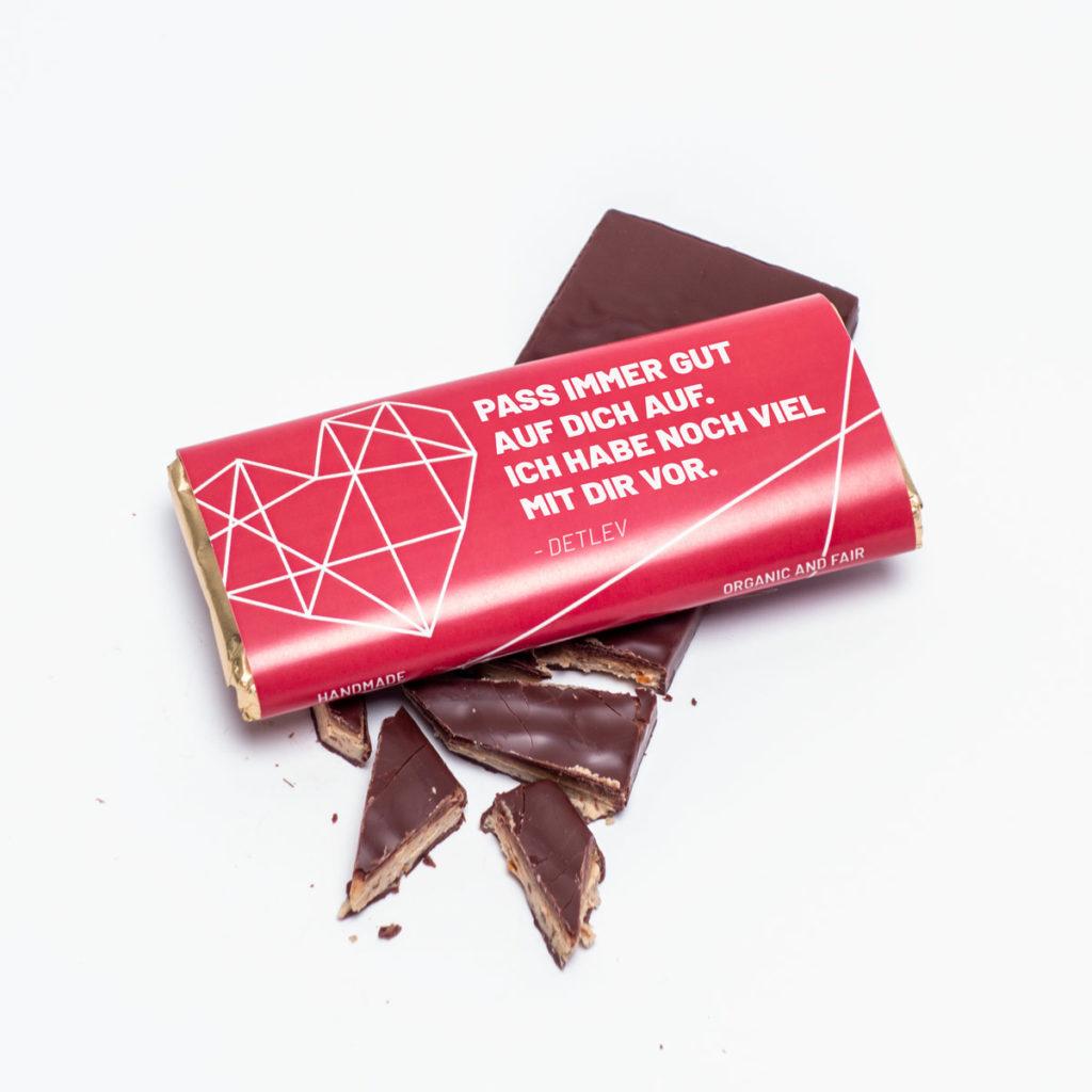 Valentinstag Geschenke personalisierte Schokolade