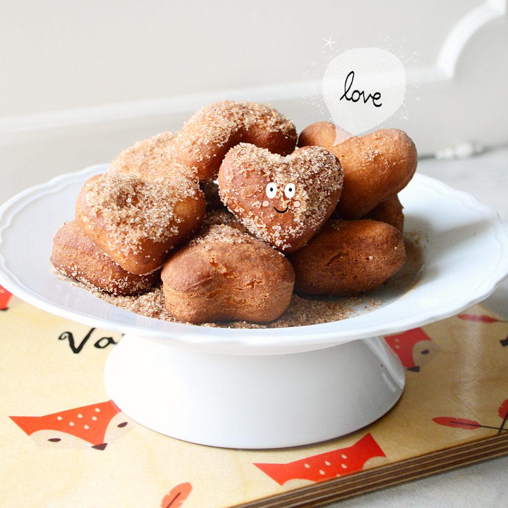 Beignets in Herzform einfaches Rezept zum Valentinstag (1)