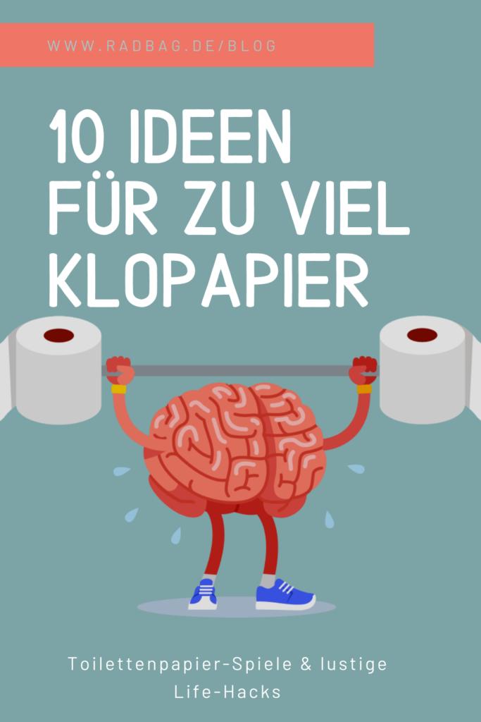 10 Ideen für zu viel Klopapier Inspiration Funny lifehacks spiele toilettenpapier