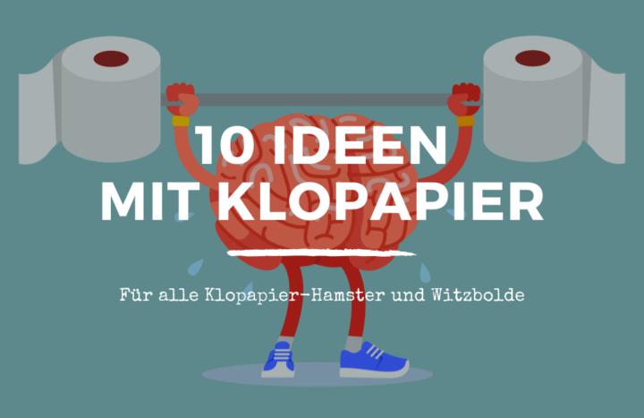10 Ideen für zu viel Klopapier Inspiration Funny lifehacks spiele toilettenpapier banner