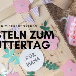 Basteln zum Muttertag Geschenkebox mit Muttertagsgeschenken diy selbermachen (1)