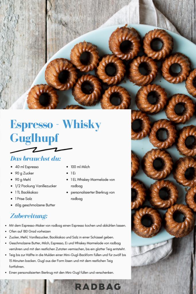 Guglhupf rezept für papa mit whisky und espresso rezeptidee selbermachen geschenkidee
