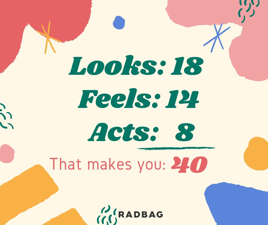 Endlich 40 Sprüche
