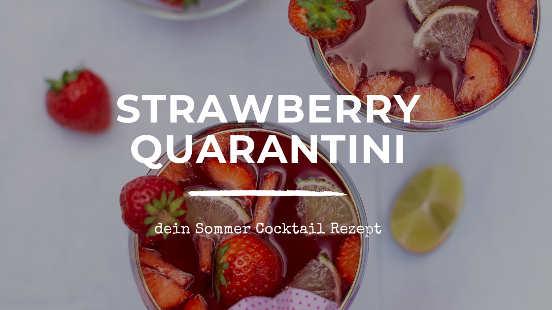 Strawberry Daiquiri Cocktail Rezept - Sommer Cocktail Header