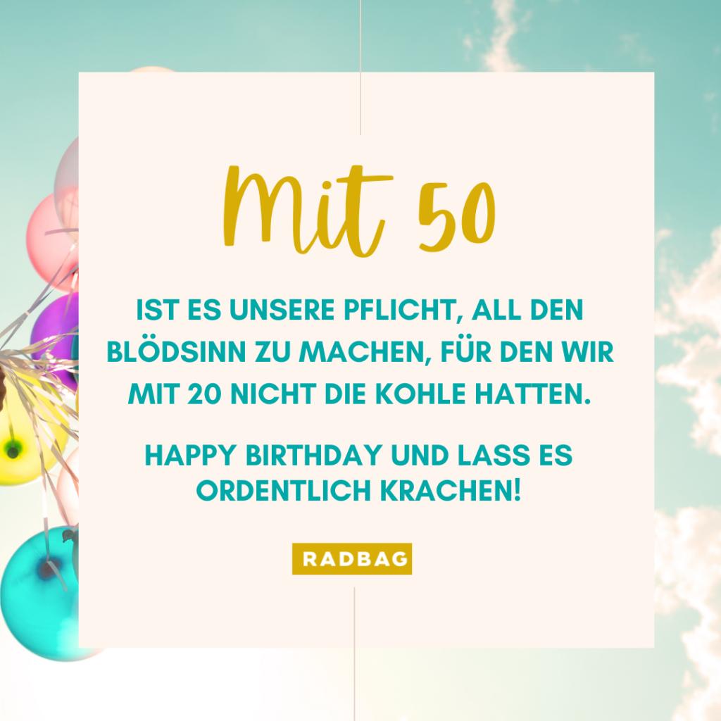 Geburtstag sprüche 50 bilder Glückwünsche zum
