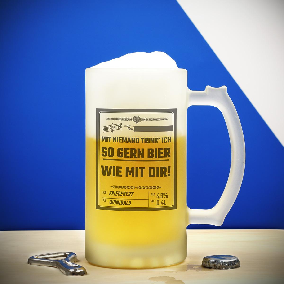 Personalisierbarer Bierkrug - Design DE